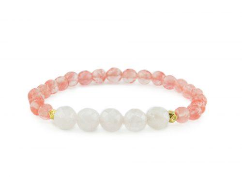 cherry quartz zasu bracelet