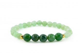 green agate zasu bracelet