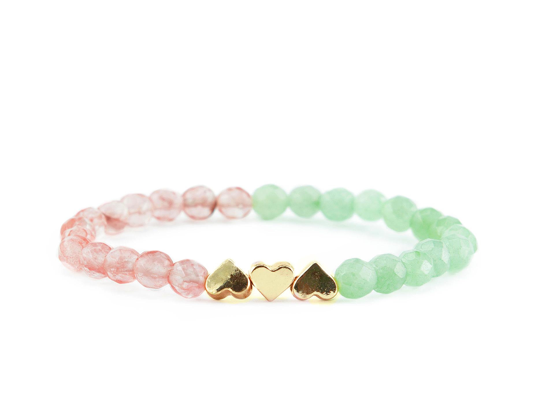 green heart bracelet zasu