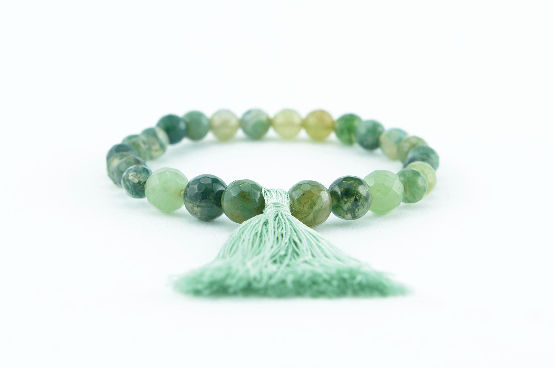 tassel bracelet zasu green agate 1