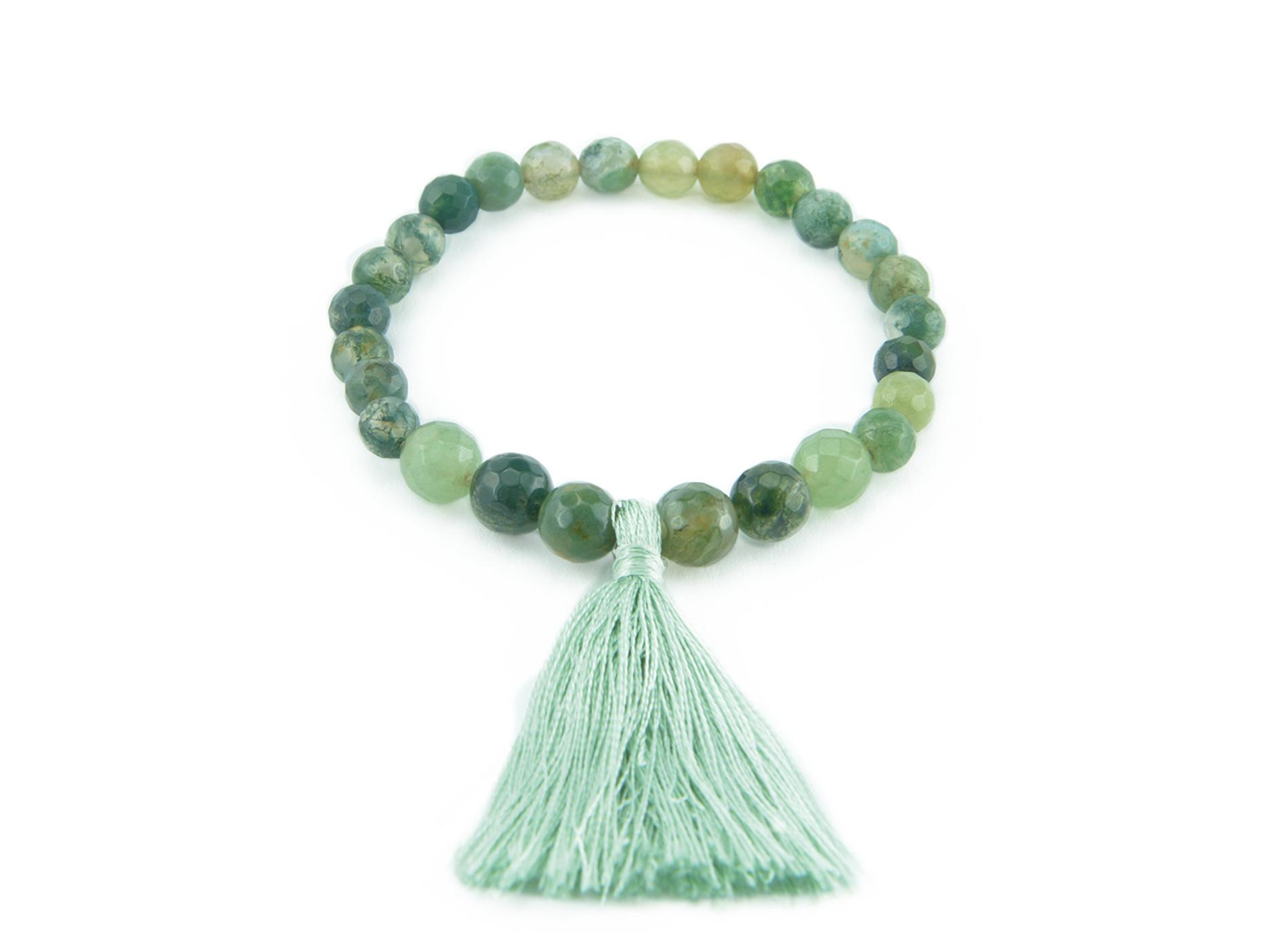 tassel bracelet zasu green agate