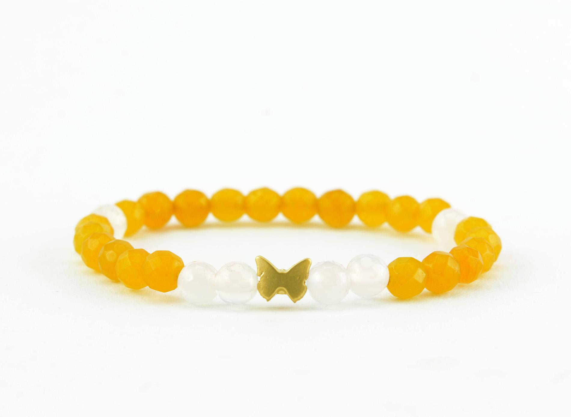 yellow jade zasu bracelte